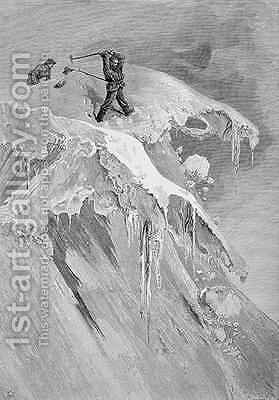 The Summit of the Moming Pass in 1864 from The Ascent of the Matterhorn engraved by Edward Whymper 1840-1911 by (after) Mahoney, James - Reproduction Oil Painting