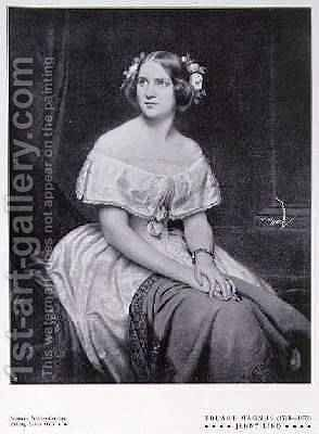 Jenny Lind 1820-87 the Swedish Nightingale 1906 by (after) Magnus, Eduard - Reproduction Oil Painting