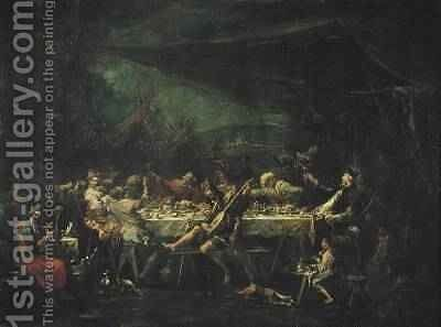 Bohemian Wedding Banquet 1730-35 by Alessandro Magnasco - Reproduction Oil Painting