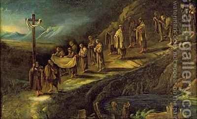 The Procession of the Holy Shroud by Alessandro Magnasco - Reproduction Oil Painting