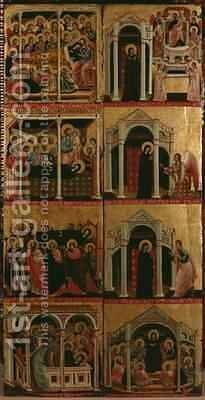Tryptic of the Virgin 3 by di Cesi Maestro - Reproduction Oil Painting