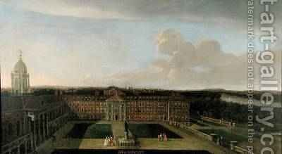 The Royal Hospital Chelsea 1717 by Dirk Maes - Reproduction Oil Painting