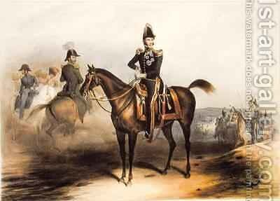 Equestrian Portrait of Leopold I 1790-1865 King of Belgium 1832 by Jean-Baptiste Madou - Reproduction Oil Painting