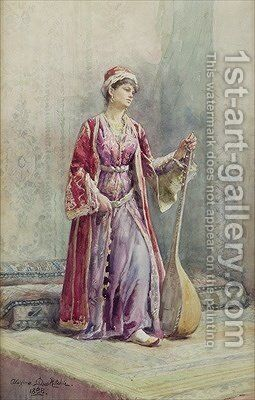 A Harem Musician 1888 by Alexina MacRitchie - Reproduction Oil Painting