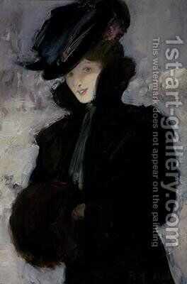 The Fur Coat by Bessie MacNicol - Reproduction Oil Painting