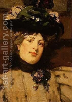 Portrait of a Lady by Bessie MacNicol - Reproduction Oil Painting