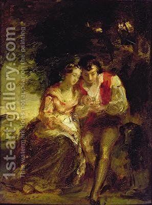 Burns and Highland Mary by Daniel Macnee - Reproduction Oil Painting