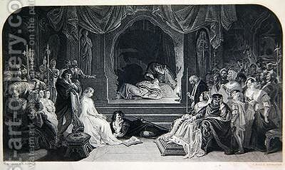 The Play Scene by (after) Maclise, Daniel - Reproduction Oil Painting