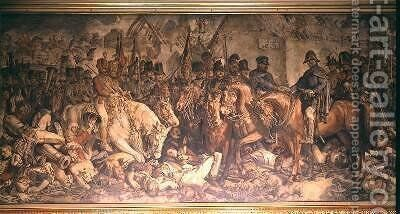 The Meeting of Wellington and Blucher after Waterloo by Daniel Maclise - Reproduction Oil Painting