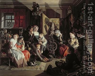 A Winter Nights Tale 1867 by Daniel Maclise - Reproduction Oil Painting