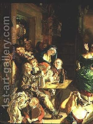 Snapp Apple Night by Daniel Maclise - Reproduction Oil Painting