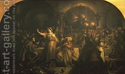Banquet Scene from Macbeth 1840 by Daniel Maclise - Reproduction Oil Painting
