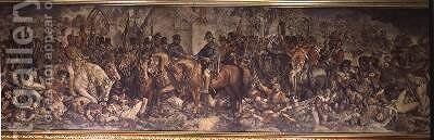 The Meeting of Wellington and Blucher after Waterloo 2 by Daniel Maclise - Reproduction Oil Painting