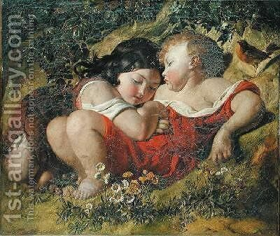 Children in the Wood 1855 by Daniel Maclise - Reproduction Oil Painting