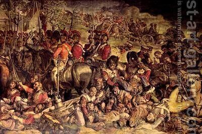 The Meeting of Wellington and Blucher after Waterloo 3 by Daniel Maclise - Reproduction Oil Painting
