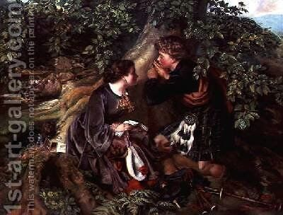 Scottish Lovers 1863 by Daniel Maclise - Reproduction Oil Painting