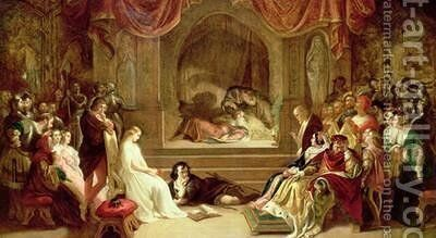 Hamlet by Daniel Maclise - Reproduction Oil Painting