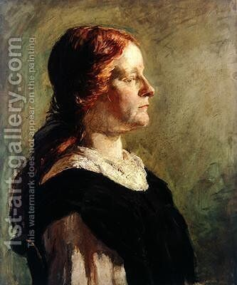 Portrait of a Girl with Red Hair 1908 by Donald Graeme MacLaren - Reproduction Oil Painting
