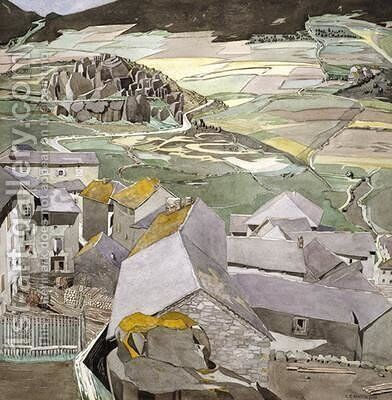 The Village of La Lagonne by Charles Rennie Mackintosh - Reproduction Oil Painting