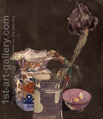 Grey Iris 1855 by Charles Rennie Mackintosh - Reproduction Oil Painting