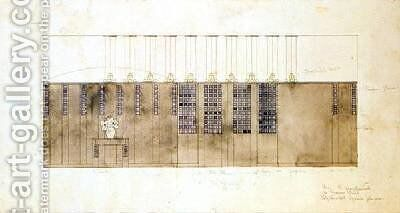 Design for a wall table and doors 1905 by Charles Rennie Mackintosh - Reproduction Oil Painting