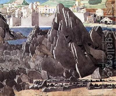 The Rocks 1927 by Charles Rennie Mackintosh - Reproduction Oil Painting