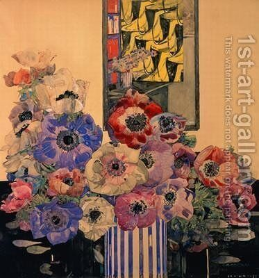 Still Life of Anemones by Charles Rennie Mackintosh - Reproduction Oil Painting