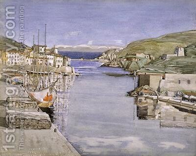 A Southern Port by Charles Rennie Mackintosh - Reproduction Oil Painting
