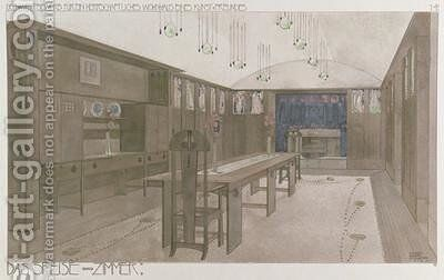 Design for a Dining Room 1901 by Charles Rennie Mackintosh - Reproduction Oil Painting