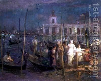 An Evening in Venice 1910 by Charles Hodge Mackie - Reproduction Oil Painting