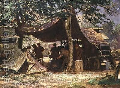 The Motor Transport Repair Workshop South Africa 1917 by James Hamilton Mackenzie - Reproduction Oil Painting
