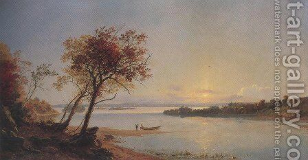 Autumn Landscape On The Hudson River 1876 by Jasper Francis Cropsey - Reproduction Oil Painting