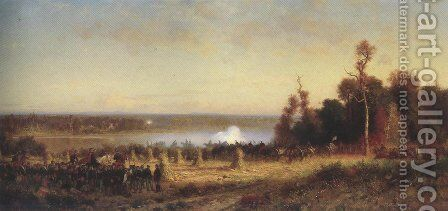 Cannonading On The Potomac October 1861 1868 70 by Alfred Wordsworth Thompson - Reproduction Oil Painting