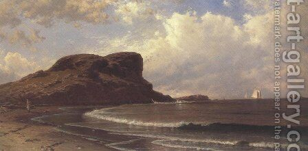 Castle Rock Ahant Massachusets 1877 by Alfred Thompson Bricher - Reproduction Oil Painting
