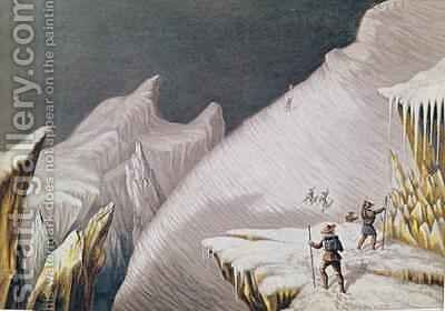 The Arrival at the Summit The Ascent of Mont Blanc by Albert Smith by (after) MacGregor, J. J. - Reproduction Oil Painting