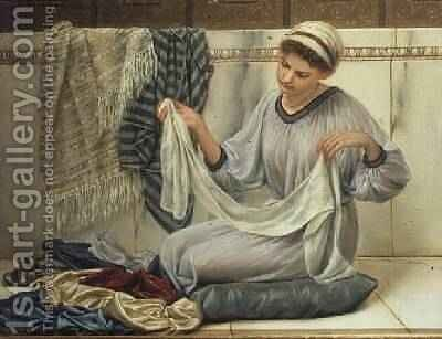 The Shawl Seller by Antonio de Macedo - Reproduction Oil Painting