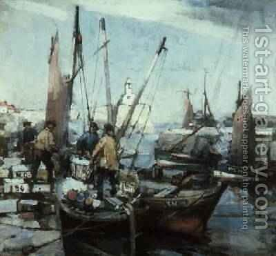 Harbour Scene by Arthur MacDonald - Reproduction Oil Painting