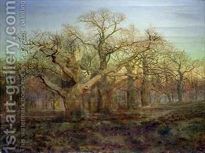 The Edge of Sherwood Forest 1878 by Andrew MacCallum - Reproduction Oil Painting