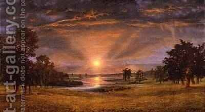 Evening 1870 by Andrew MacCallum - Reproduction Oil Painting