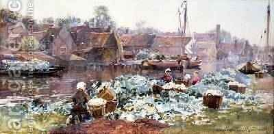 Cauliflowers for Pickling by Hamilton Macallum - Reproduction Oil Painting