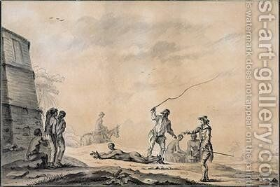 The Four Stakes 1785 by Charles de Lyver - Reproduction Oil Painting