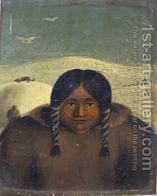 Portrait of Arua-loo 1822 by Captain George Francis Lyon - Reproduction Oil Painting