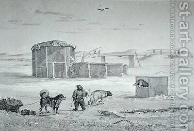 Eskimaux House built of ice Igloolik by Captain George Francis Lyon - Reproduction Oil Painting