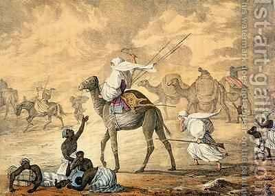 A Sand Wind on the Desert by Captain George Francis Lyon - Reproduction Oil Painting