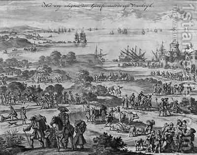 Protestants leaving France by Jan Luyken - Reproduction Oil Painting