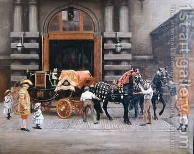 The Carriage of the Master of the Horse by Charles Augustus Henry Lutyens - Reproduction Oil Painting