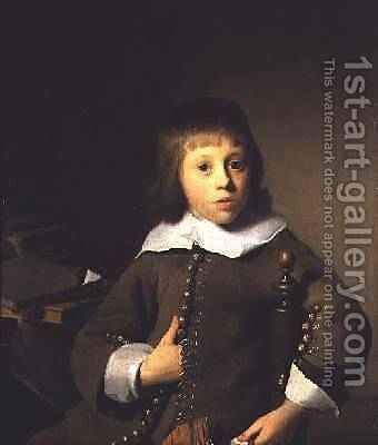 Portrait of a Young Boy by Isaac Luttichuys - Reproduction Oil Painting