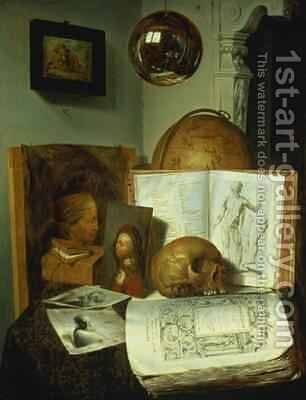 Vanitas by Isaac Luttichuys - Reproduction Oil Painting