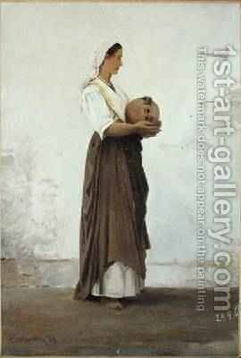 Girl from Capri 1871 by Ascan Lutteroth - Reproduction Oil Painting