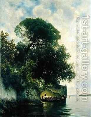 Isola Bella 1884 by Ascan Lutteroth - Reproduction Oil Painting